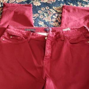 NYDJ Dark red jeans